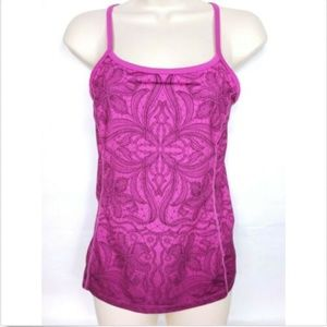 Athleta Womens Racerback Tank Top XS Athletic Pink
